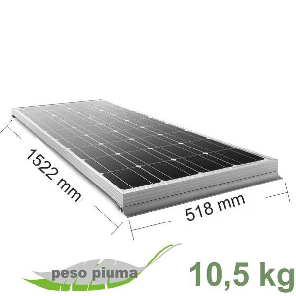 Kit Pannello Solare Moove 120w : Kit pannello solare moove w grosso vacanze