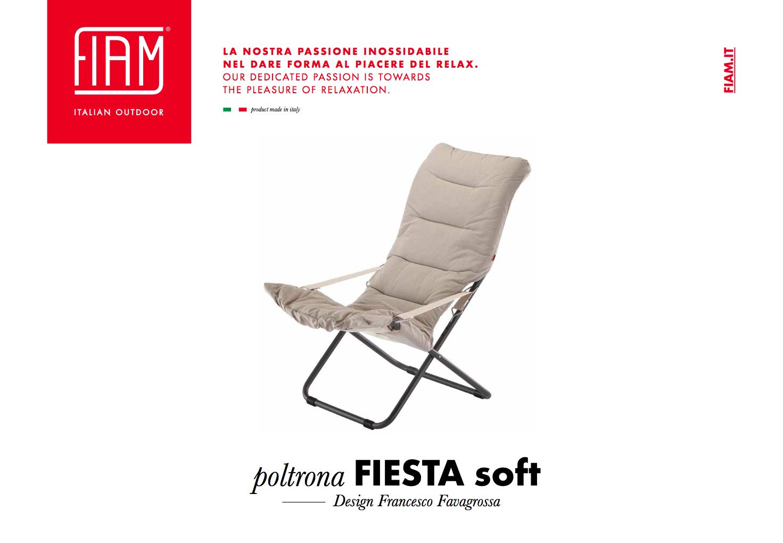 Poltrona fiesta soft 4 posizioni grosso vacanze for Poltrona fiesta fiam