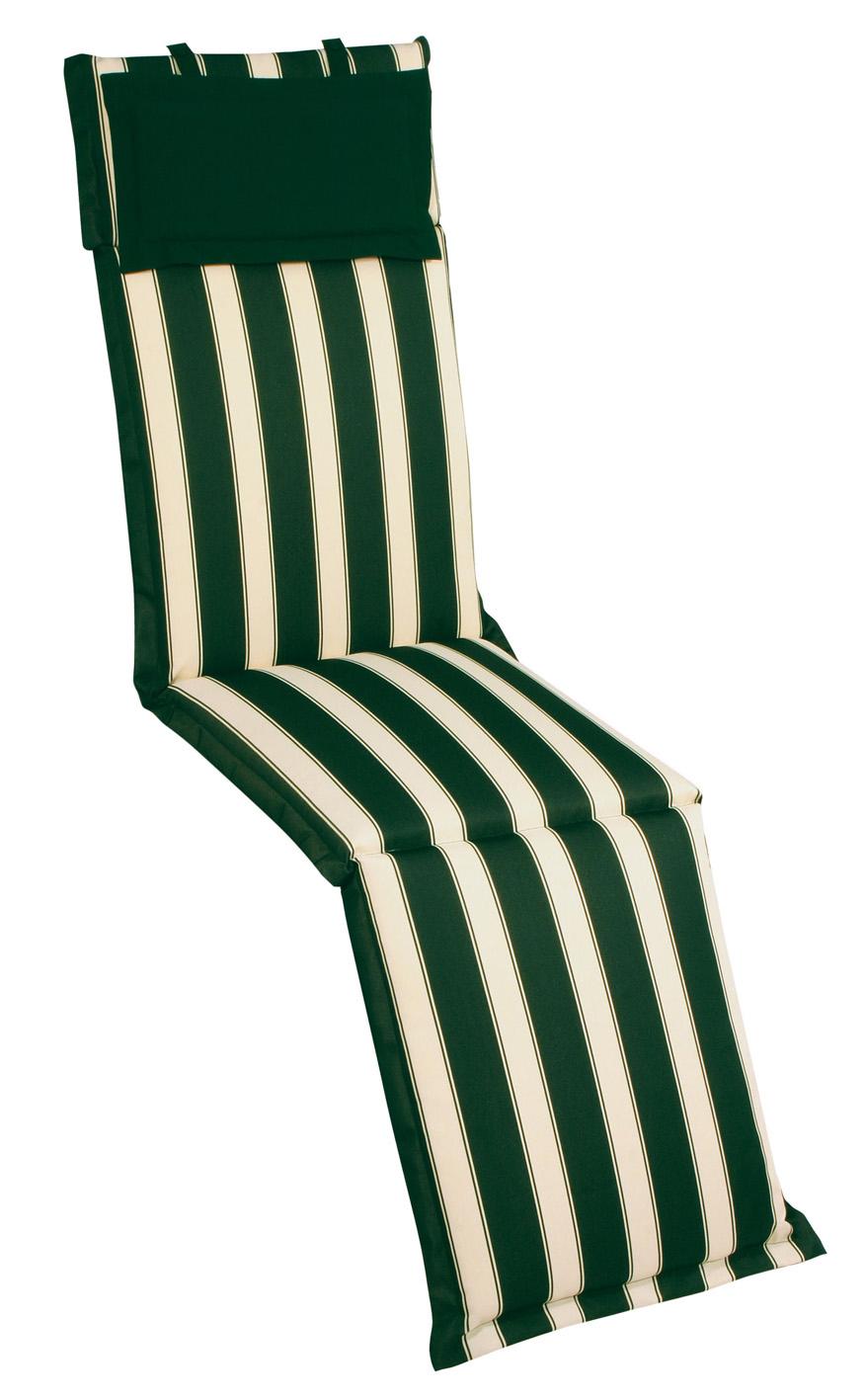 Cuscini Idrorepellenti Per Esterno cuscino per deckchair righe verdi re garden