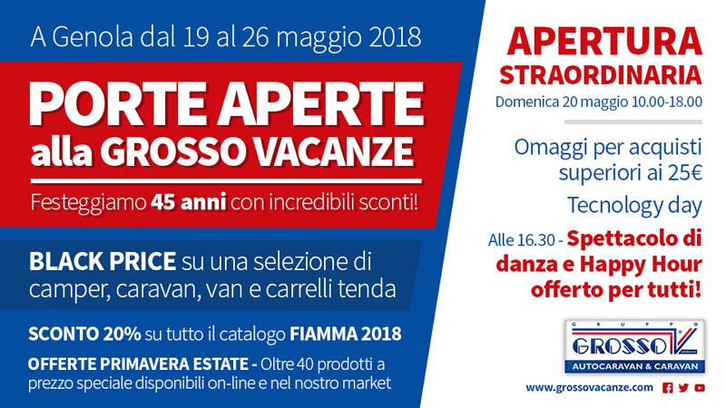 Grosso Vacanze - Porte Aperte maggio 2018